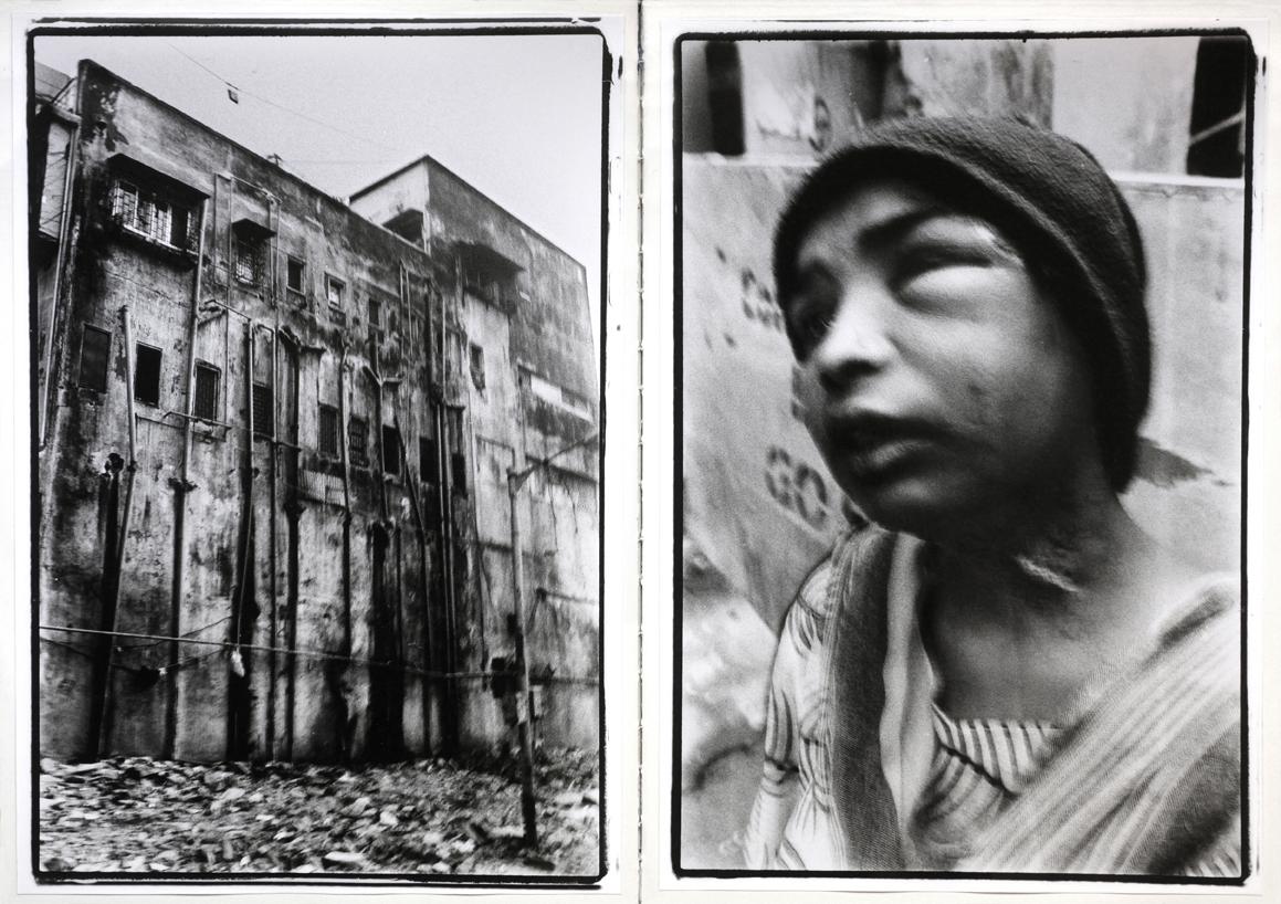 Jeune femme et bâtiment en détresse à Bombay en 2018