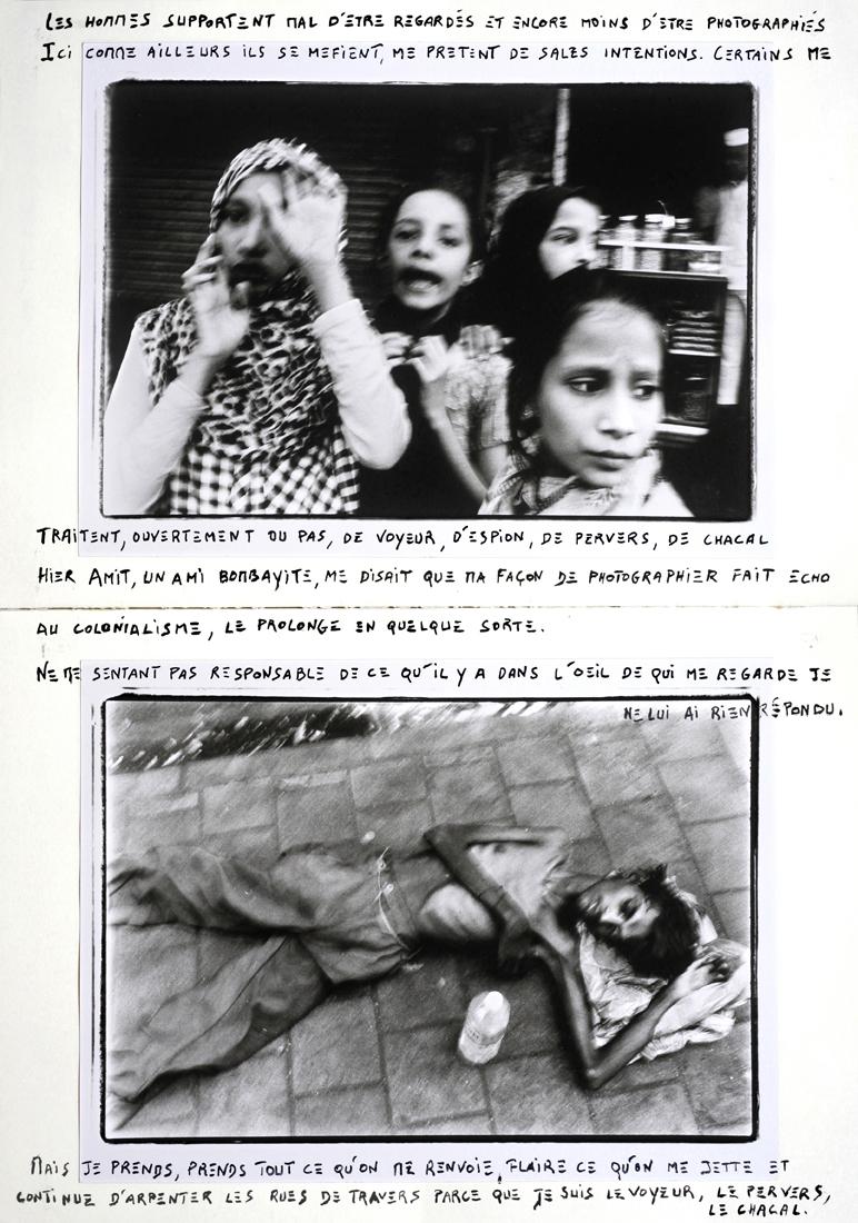 Quatre filles et un homme au sol à Null Bazar/Bombay en 2018